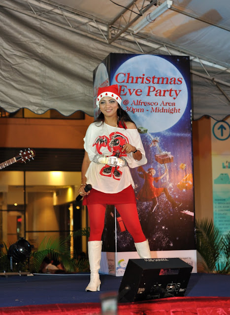 Christmas Eve Party Female Singer Performing