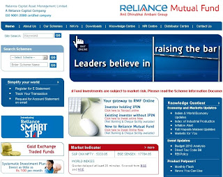 Reliance Mutual Fund : Login to Access Nav & Online Account Statement