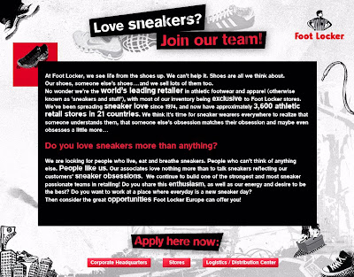 Footlocker Job Application Online