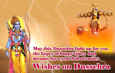 Happy Dussehra Glitter Greetings