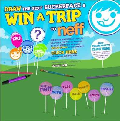 Zumiez offers Neff Suckerface Sweepstakes
