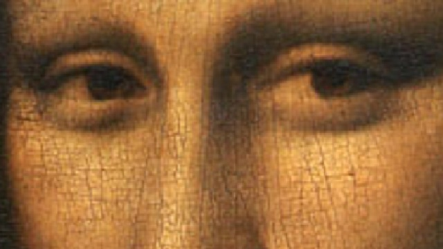 Mona Lisa close-up, taken from http://artblogbybob.blogspot.com/2010/12/seek-and-find-discovering-da-vinci-code.html