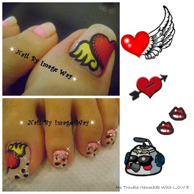 Nail Art. Love heart Code: K3 Price: The heart looked very alive and many
