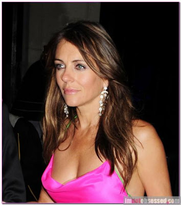 Liz Hurley Beautifulll in Pink Dress