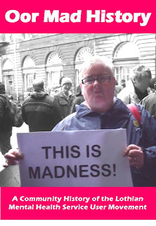 cover of book, photo of Maggie with sign saying This Is Madness