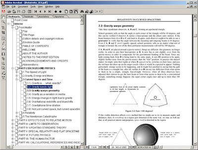 'Relativity in Curved Spacetime', PDF ebook version, screenshot