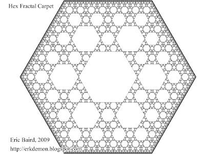 Hex Fractal Carpet, Eric Baird 2009