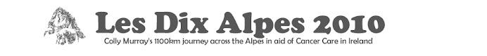 Colly Murray's Les Dix Alpes Diary