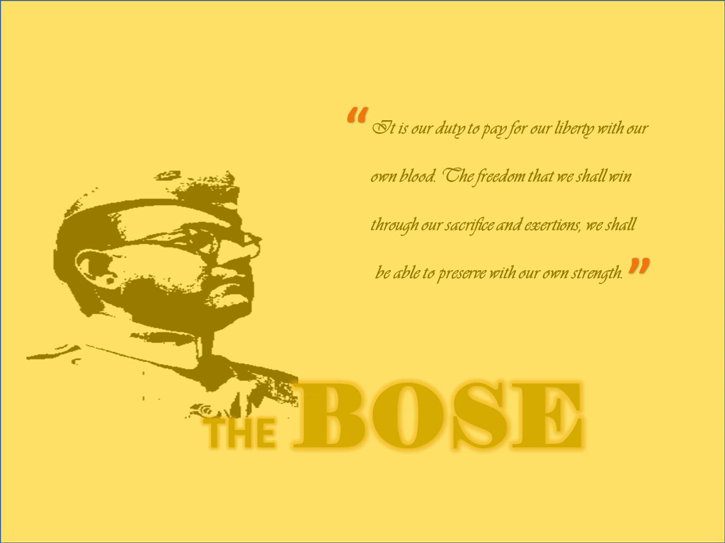 subhash chandra bose quotes
