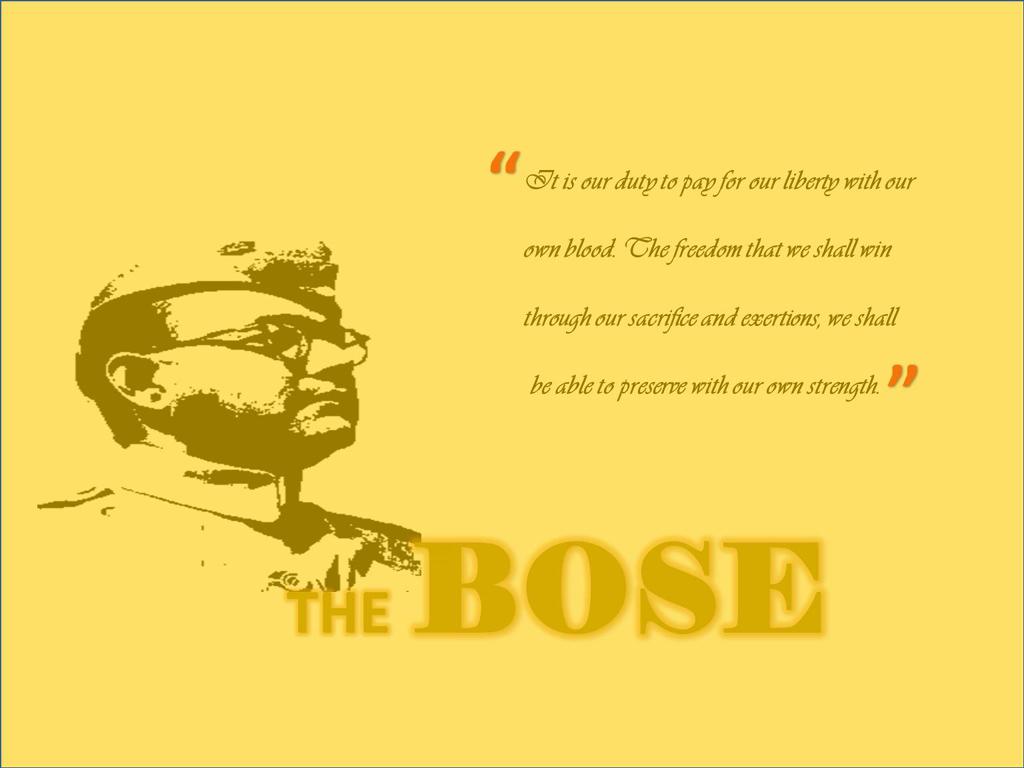 subhash chandra bose quotes