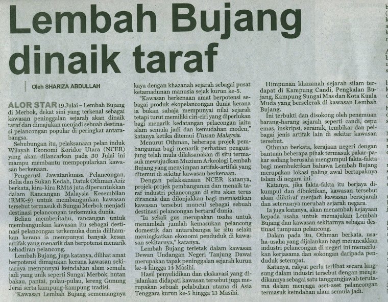 KERATAN AKHBAR, UTUSAN, 24 JULAI 2007