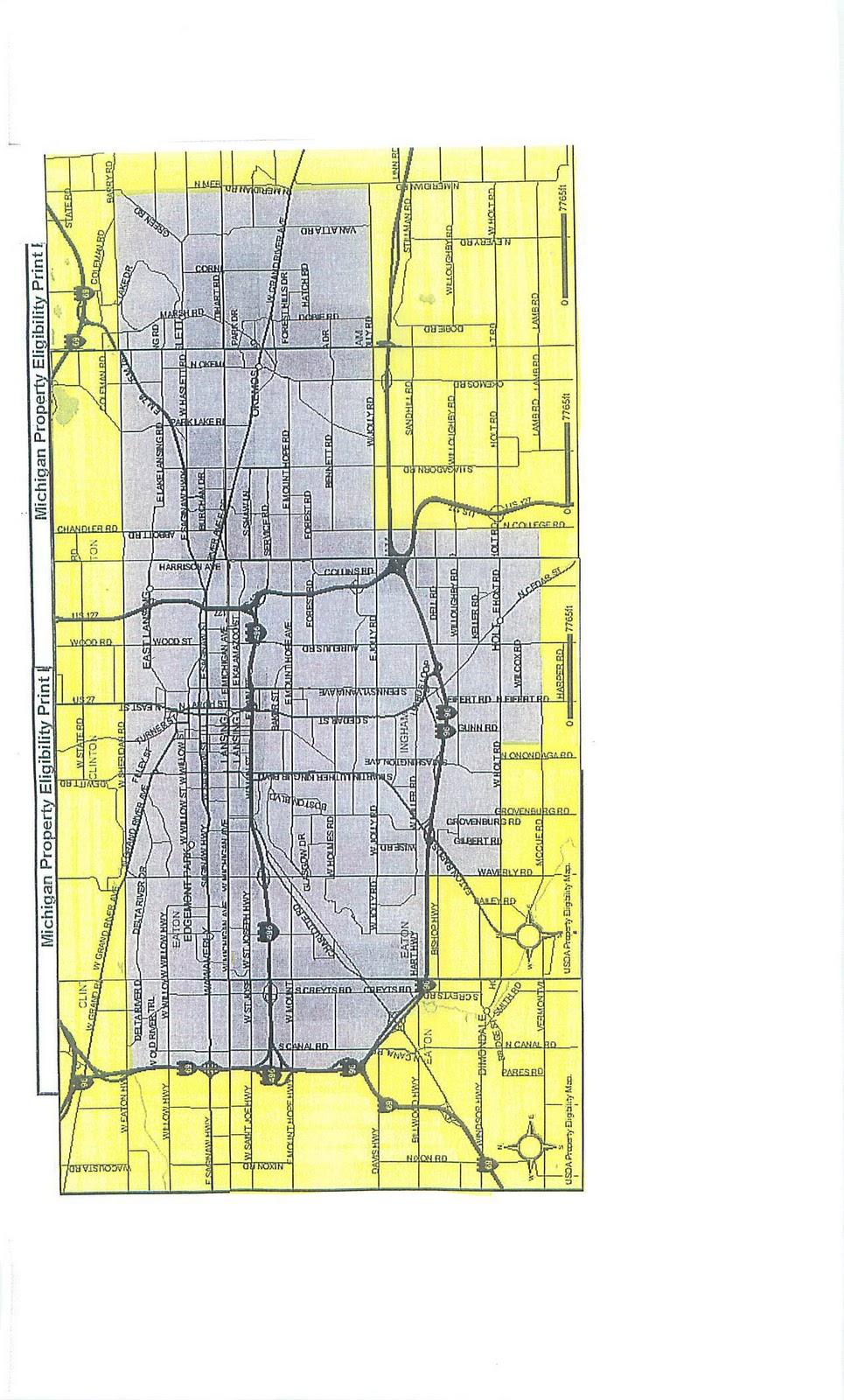 Loan Program For Buyers - Rural development loan michigan map