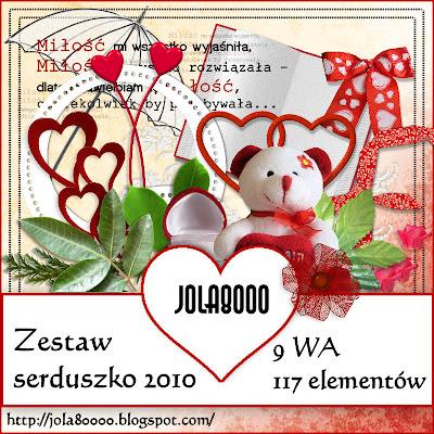 """"""" ZESTAW SERDUSZKO 2010 """"by jola8000 Podgląd+główny"""