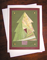 Iris Folding Holiday Card by harvestorm