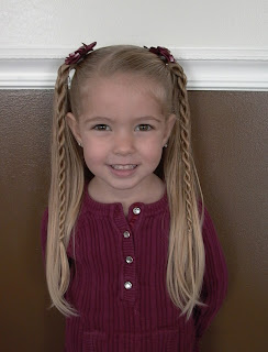 bow little girls hairstyle