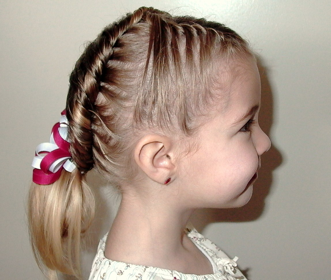 Красивые причёски на средние волосы для детей