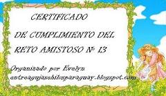Reto Amistoso # 13 Cumplido!!!