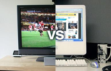 television versus internet