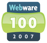 Webware 100 awards 2007
