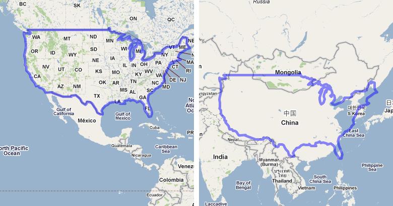 Google Maps Usa China Google Maps Usa To China Cjmcinfo - China usa map