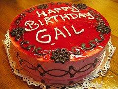 happy birthday gail cake