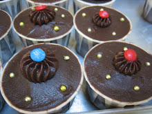 Cupcakes with choc ganache topping