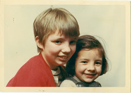 Me with my sister must be around eight years old here