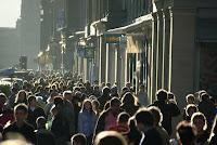 Multitud en la calle