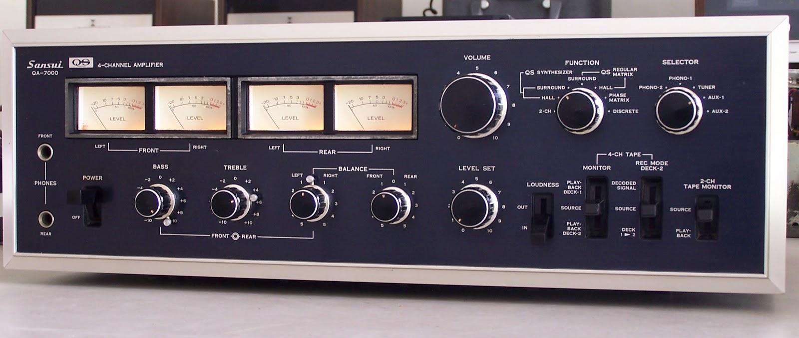 vintage audio sansui qa 7000 quadraphonic amplifier Realistic Amplifier Quadraphonic