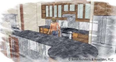 Kitchen Design Layouts on The Second Kitchen Design Layout Is U Shaped With The Bench Seat On