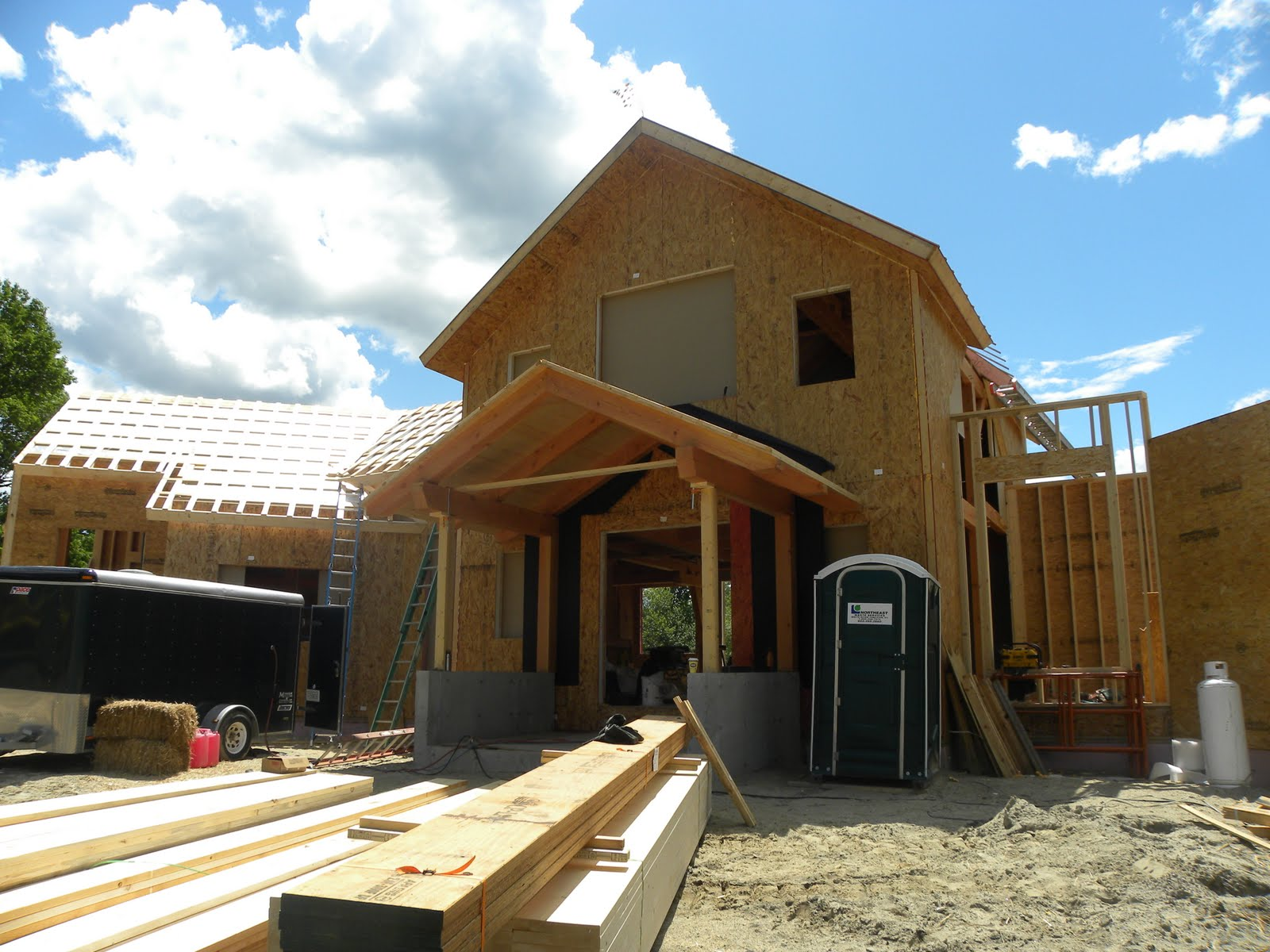 Post and beam timber frame blog insulated panels for Sip panel house