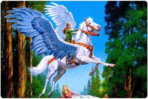 Imágenes de pegasos y unicornios. (33 elementos)