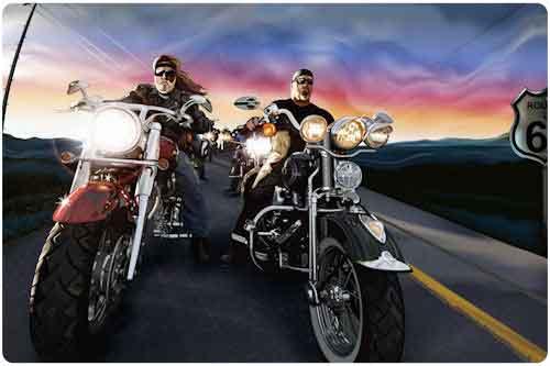 Wallpapers de motocicletas y una linda nena (6 elementos)