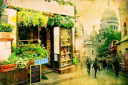 Una calle de la ciudad con efecto Vintage (Imagen HD)
