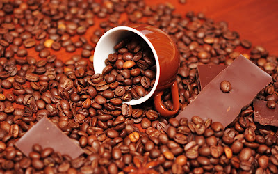 Fotografías de chocolates, café, avellanas y trufas I