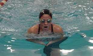 a breat stroke swimmer