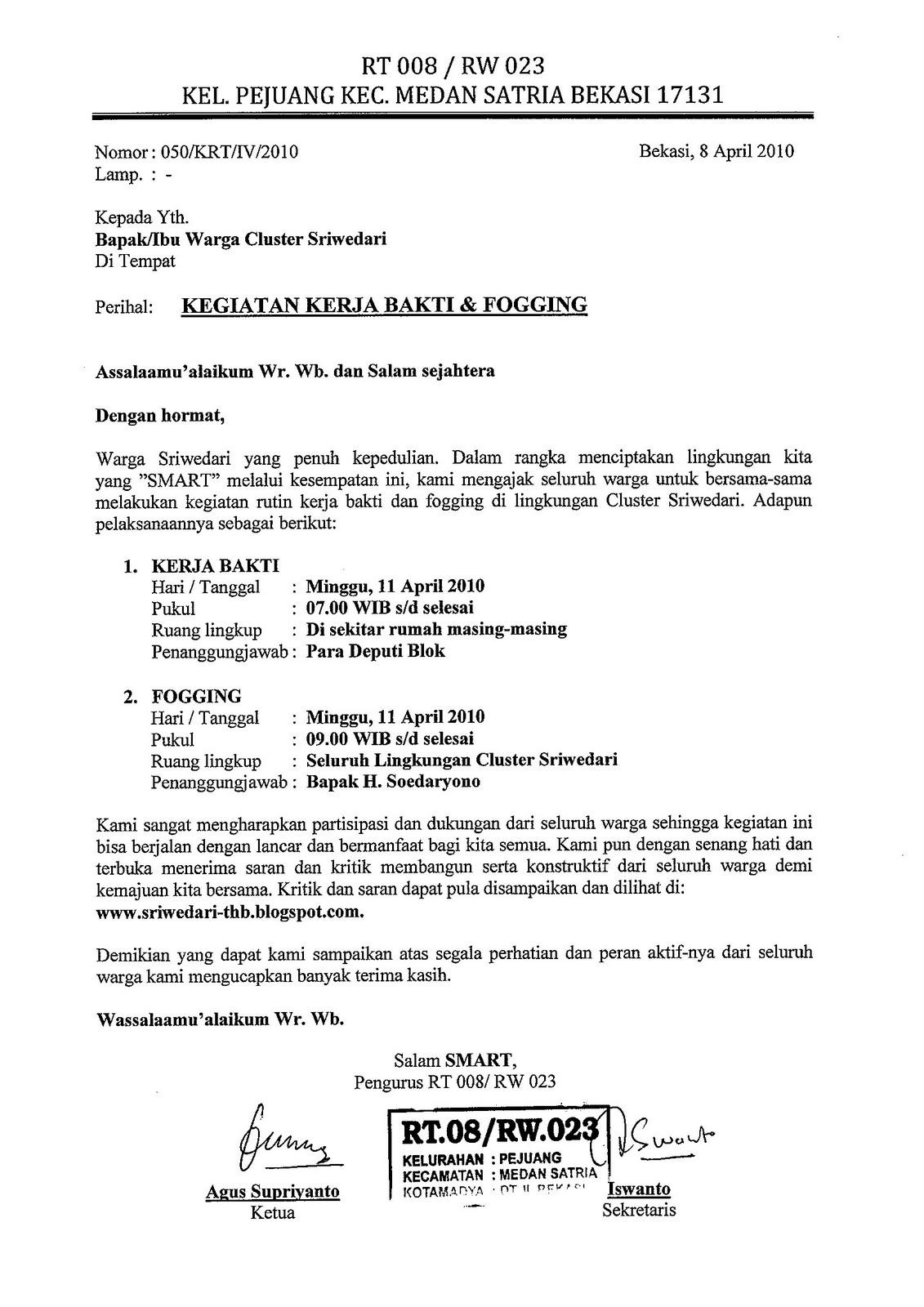 Contoh Berita Acara Rapat Wali Murid - Wall PPX