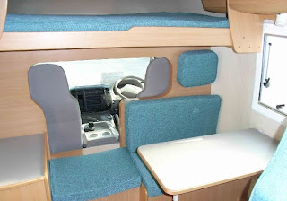 interior of camping car