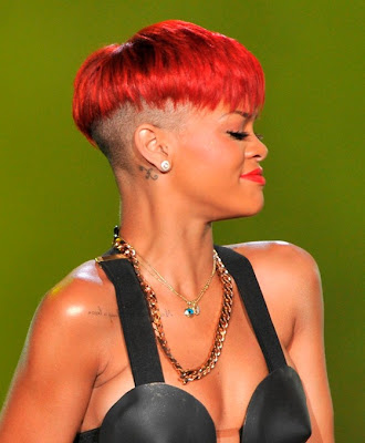 bright red hair photos. Rihanna Red Hair Rock In Rio