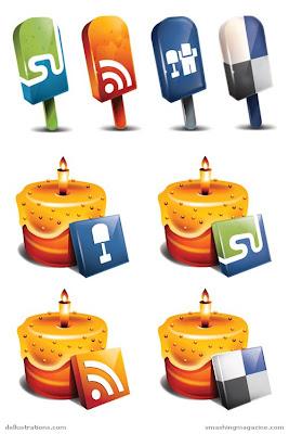 lezzetli ikonlar,sosyal ikonlar
