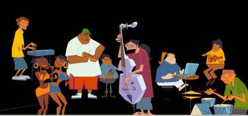 Cartoon Jazz Band The Jazz Band a