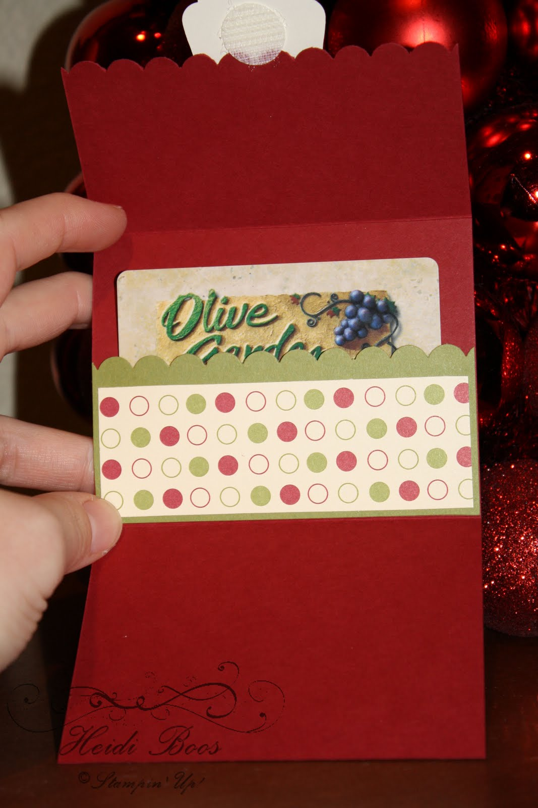 Stuck on Stampin: Christmas gift card holders  a couple of fun gifts to give