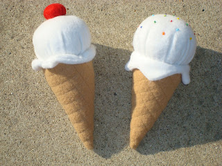 Wool Felt Ice Cream Cone
