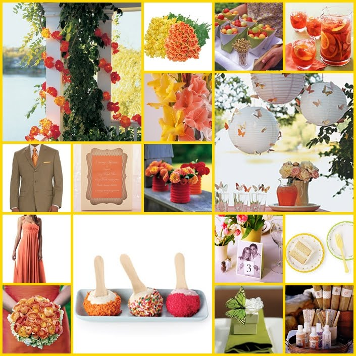 Halina 39 s blog your theme doesn 39t even have to be for Pink and yellow wedding theme ideas