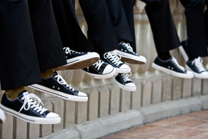 Grooms Guys in Converse On Trend wedding decor palm springs Bel2ba