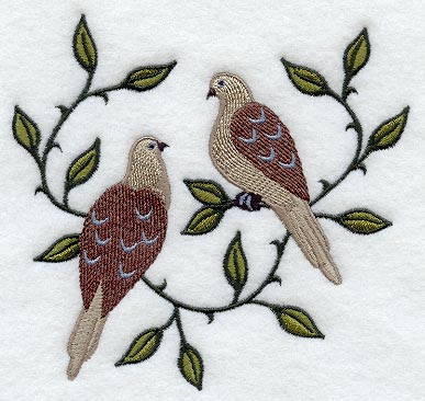 Two Turtle Doves Clip Art