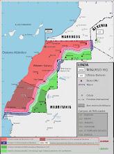 Mapa politico-militar real do Sáhara
