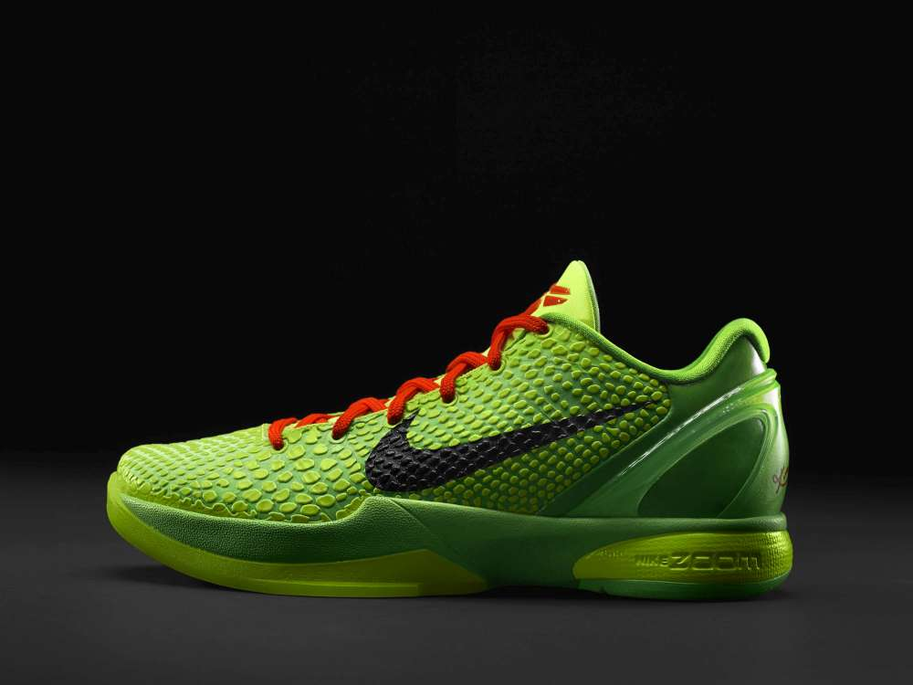 Nike Zoom Kobe 6 VI Grinch Christmas Green Mamba