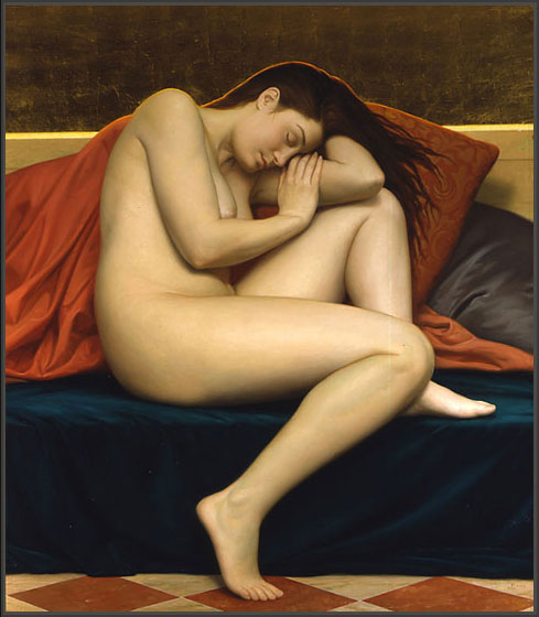 Sleeping women in art