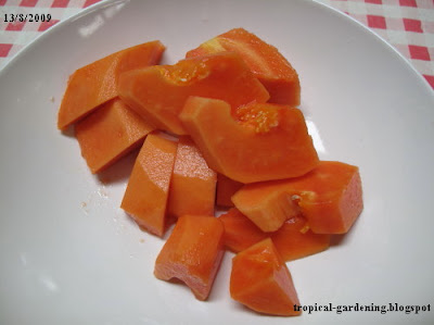 chopped papaya